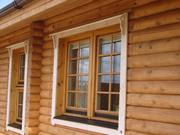 Окна и двери в сруб,  деревянный дом. Изготовление,  установка.